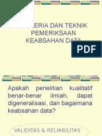 Keabsahan Data & Pengumpulan Data Kualitatif