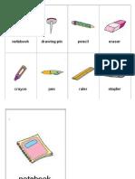 Fichas Vocabulario en Ingles