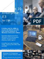 Partner Value of Windows 10 Enterprise E3 for CSP