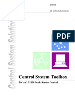 Geh 6415 Control System Toolbox for an LS2100 Static Starter Control