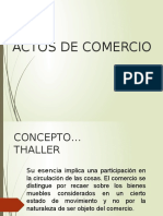ACTOS DE COMERCIO