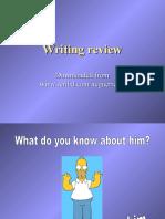 WRITING Personal Data