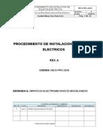 Procedimiento de Instalacion de Equipos Electricos