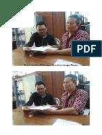 Foto Konsultasi Rancangan Aktualisasi Dengan Mentor