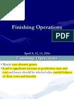 13 Finishing Operations