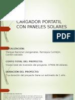 Cargador Portatil Con Paneles Solares