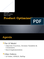 Product Optimization