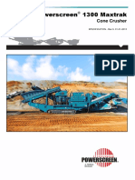 Powerscreen 1300 Maxtrak Tech Spec Rev 5-01-01-2013