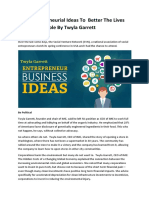Twyla Garrett Business Ideas for the Young Entrepreneur