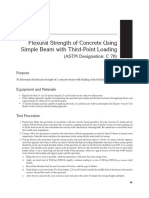 Flexural STrength of Beam ASTM C78