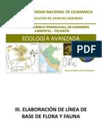III. ELABORACIÓN DE LINEA DE BASE FLORA Y FAUNA