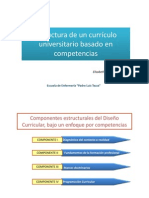 Estructura de un Currículo Universitario Basado en Competencias