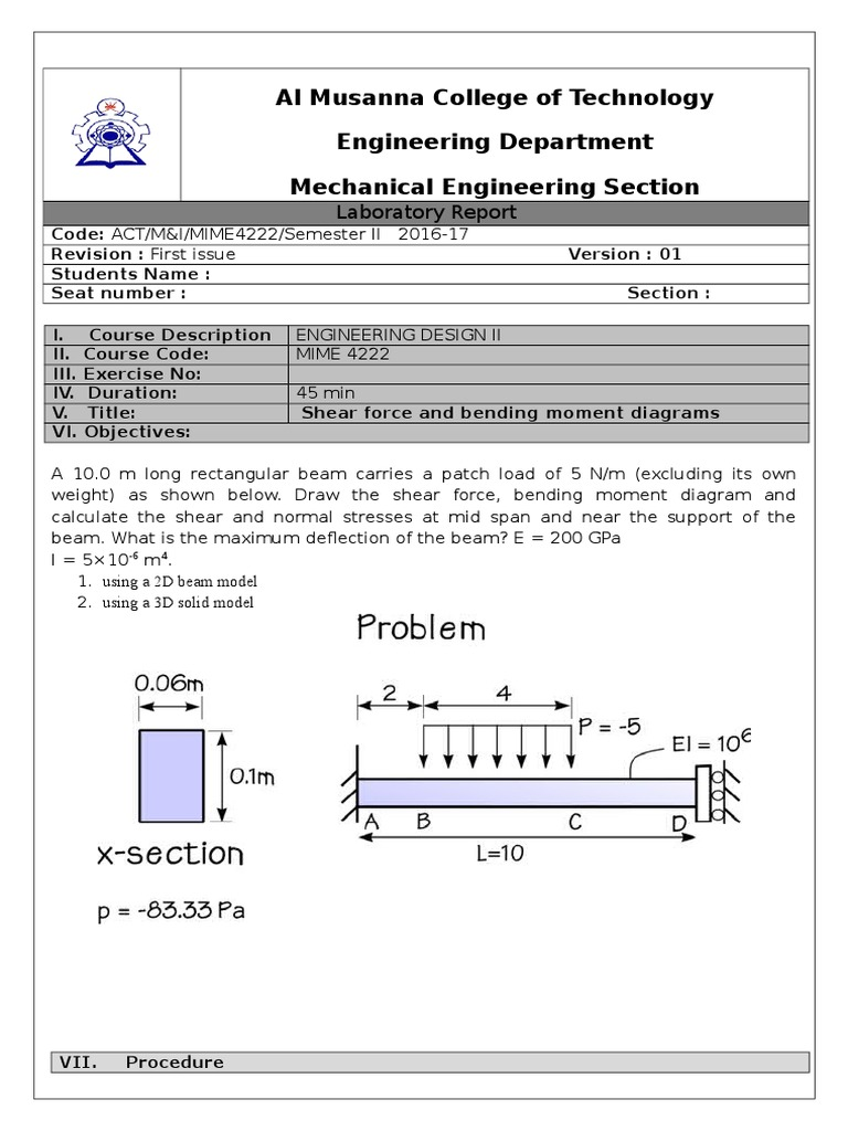 00 Shear Force And Bending Moment Diagrams Beam Structure Diagram For Beams