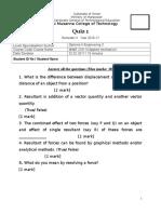 Quiz 1 - 3