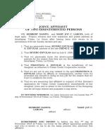 Affidavit of 2 Disinterested Persons- Estolas