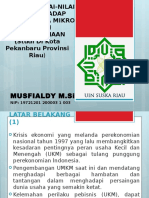 Slide Proposal Nilai Nilai Islam