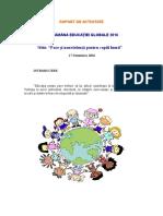 Raport Activitate-Saptamana Educatiei Globale, 2016