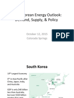 South Korean Energy Outlook 2015