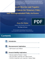 Implications of Ultra-low and Negative Interest Rate Policies for Monetary Policy and Macroprudential Policy in Korea