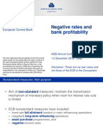 Negative Rates and Bank Profitability