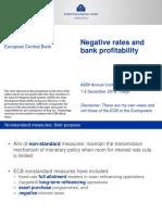 Negative Rates and Bank Profitability