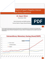 An Overview of Bank of Japan Negative Interest Rate Policy Experience