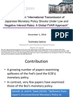 Comments on International Transmission of Japanese Monetary Policy Shocks Under Low and Negative Interest Rates-A Global FVAR Approach