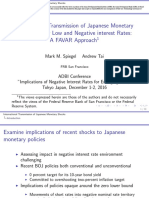 International Transmission of Japanese Monetary Shocks Under Low and Negative Interest Rates-A FAVAR Approach