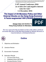 The Impact of US Monetary Policy and Other External Shocks on the Hong Kong Economy-A Factor-Augmented VAR FAVAR Approach