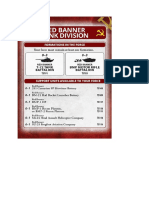 Team Yankee - Unit Card - Red Banner Tank Division