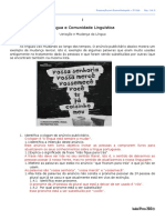 1 - Língua e Comunidade Linguística - Ft Correção