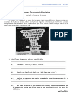 1 - Língua e Comunidade Linguística - Ft