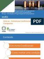 Aula02 - Estrutura Condicional Simples e Composta