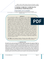 An Data Center Solution Architecture Architecture For Advanced Healthcare Monitoring System