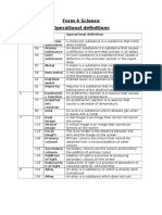 Form 4 Science Operational Definitions