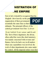 Administration of the Empire
