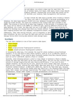 ArcGIS Field Data Types