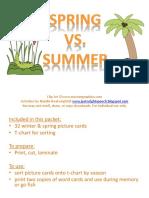 Spring vs Summer