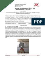 Digital Heritage Documentation Via TLS And Photogrammetry Case Study