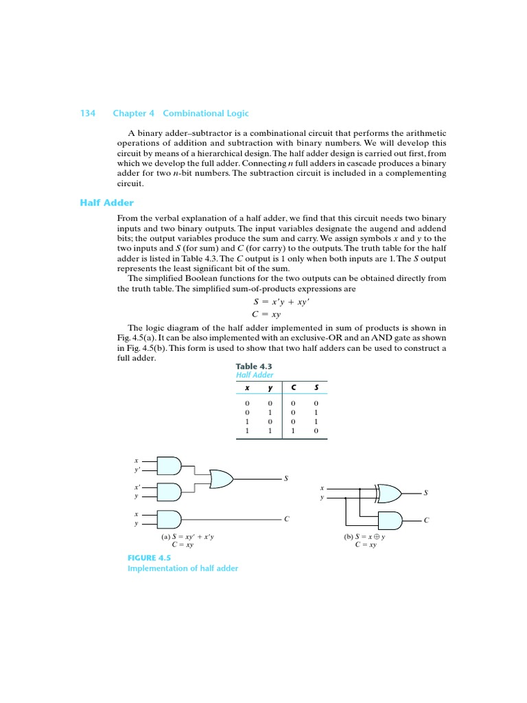 Adders Theory Of Computation Mathematical Logic Binary Subtractor Circuit