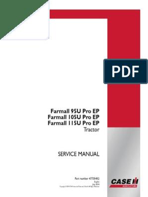 Case-IH-U 95 105 115-Service-Manual farmall pdf | Transmission