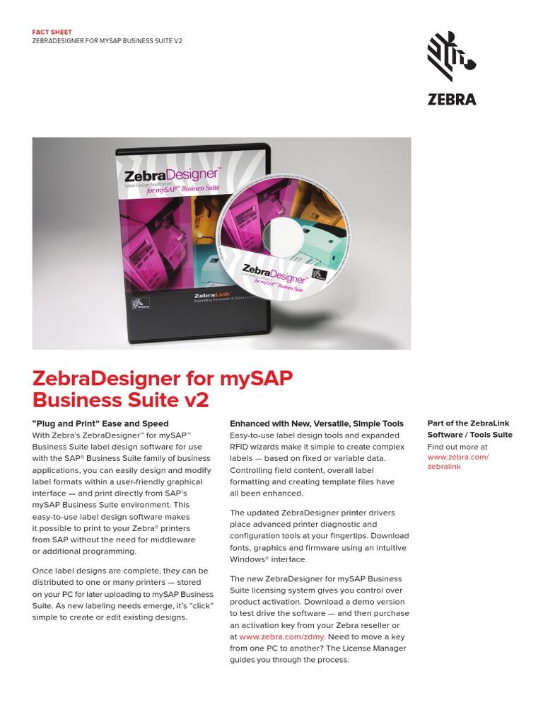 Zebradesigner Mysap v2 Fact Sheet en Us Gl a4 | Microsoft Windows