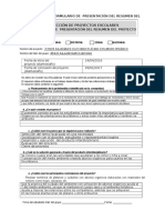 Anexo 2 Formulario de Presentación Del Resumen Del Proyecto