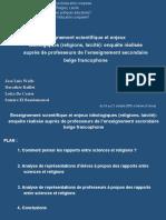 Enseignement scientifique et enjeux idéologiques (religions, laïcité)
