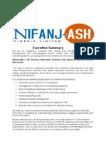 Nifanj-Ash Company Proposal 2