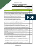 Lista de Verificação do Sistema de Gestão de Segurança da Obra