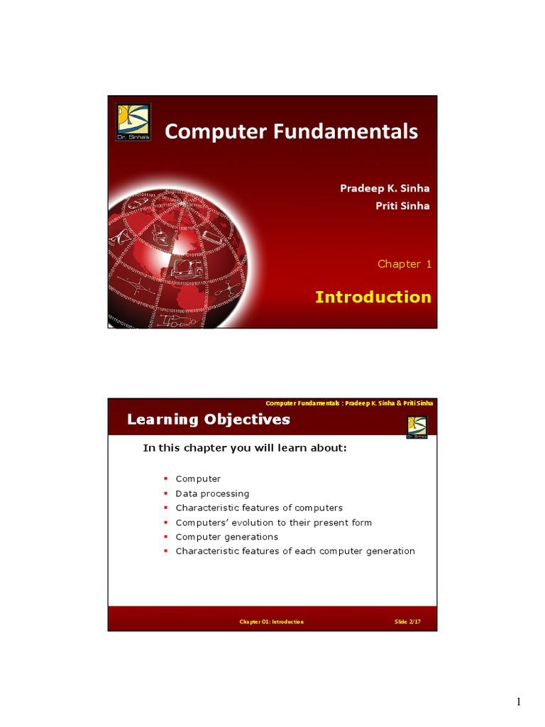 Computer Fundamentals Pradeep K Sinha Pdf