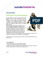 1- Pré História - Evolução Do Hominídeos