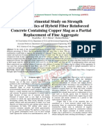 An Experimental Study on Strength  Characteristics of Hybrid Fiber Reinforced  Concrete Containing Copper Slag as a Partial  Replacement of Fine Aggregate