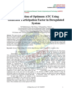 Computation of Optimum ATC Using  Generator Participation Factor in Deregulated  System
